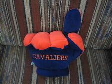"""12"""" plush fist/finger of UVA Virginia Cavaliers, good condition"""