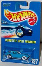 Hot Wheels Corvette Split Window Gray Base Blue Card Collector #197 Malaysia