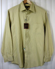 Tasso Elba Long Sleeve Men Casual Dress Shirt Size L Large NWT Solid Yellowish