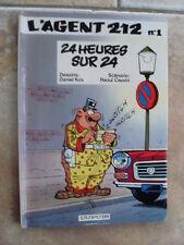 bd Kox Cauvin L' AGENT 212 n° 1 24 heures sur 24 eo 1981