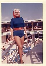 VINTAGE PINUP MARILYN MONROE WIG ONE PIECE BATHING BEAUTY COLOR KODAK IL PHOTO