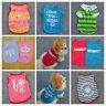 New Summer Pet Puppy Small Dog Cat Clothes T Shirt Funny Printed Vest Coat XS-L