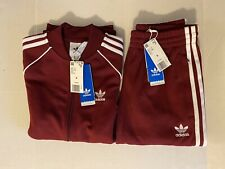 Adidas Men's Originals Superstar Tracksuit SST Burgundy size Small New With Tags