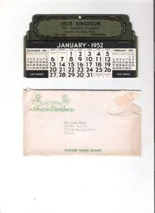 1952 Jack Kingston Canadian Playboy Old Country Music Calendar New in Envelope