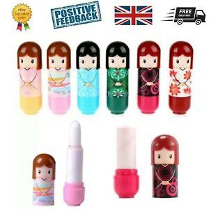 6 Kimono Dolly Doll Lip Balm Gloss Lipstick Childrens Kids Girls Beauty Make up