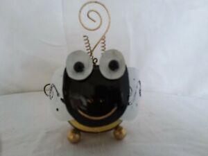 Handmade garden animal tea light holder, bumble bee t light, bee ornamnent