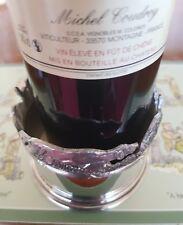 Superbe sans Plomb Poteries Rouge Claret Sous-Verre Vin - 7cm Haut Pays Motif
