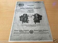 VW Käfer 1200, Solex-Fallstrom-Vergaser Typ 28 PCI - Ersatzteilliste