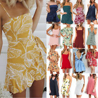 Womens Slip Mini Dress Party Cocktail Summer Casual Beach Short Dresses Sundress