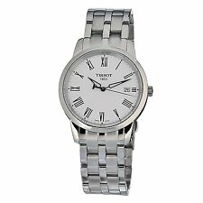 Tissot T0334101101301 Classic Dream White Dial Swiss Quartz Men's Steel Watch