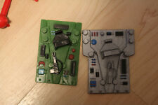 Lot of 2 ROMM computor force Warriors figure toys transformable Vehicle 1980's