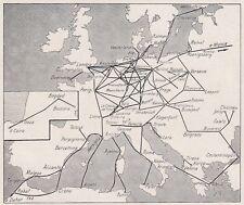 D3094 Linee aeree dell'Europa e del bacino del Mediterraneo - Mappa - 1927 map