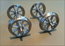"5"" gauge - Set of 4 -  8 Spoke Wagon Wheels on Axles"