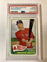 2014 Topps Heritage MOOKIE BETTS #H558 Red Sox Rookie Card RC PSA 10 Gem Mint