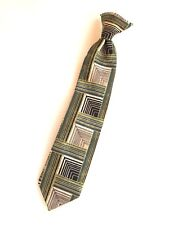 Boy's Clip On Tie,Black and White,Pre Tied,Michael James