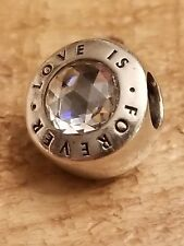 AUTHENTIC PANDORA Sterling Silver Love Is Forever CZ Charm 791813CZ