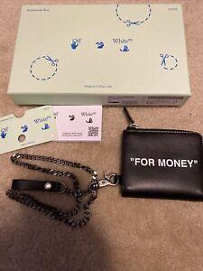 OFF -White c:o virgil abloh wallet Black White For Money Brand New MSRP $330