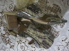 Open Toe Bridal or Wedding Block Heels for Women