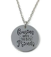 925 Silver Plt Cousins Make The Best Friends Pendant Necklace Family Gift A