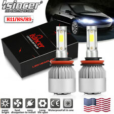 H11 LED Headlight 6000K White 1950W 292500LM Conversion Kit Low Beam High Power