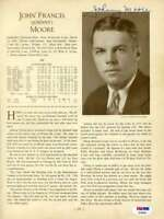 Johnny Moore Psa Dna Coa Autograph 1933 Who`s Who 8x10 Photo Page Signed