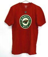 Reebok Men Medium NHL Minnesota Wild Vanek 26 Short Sleeve T-Shirt Tee Red