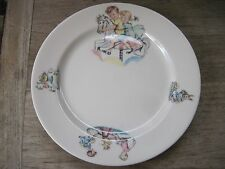 "Vintage Syracuse China 8"" Plate with Children's Design, Seesaw,MerryGoRound, ++"