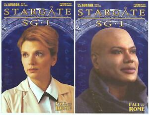 Stargate SG-1 Fall of Rome>Set of 2 - 2B/3C> Photo Variant Covers> Avatar> VF/NM