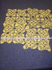 Yellow Crocheted Doilies