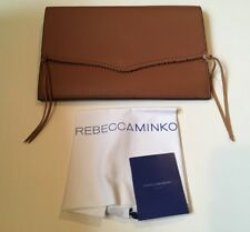 NWOT Womens Large Brown Leather Rebecca Minkoff Clutch
