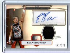 WWE Evan Bourne Topps Platinum 2010 Autograph Relic Card SN 141 of 275