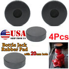 4pc Jack Slotted Adapter Pad Rubber Protection Hydraulic Bottle 20mm Hole Bottom