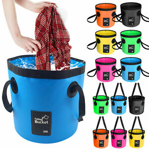 12L/20 Folding Water Bucket Collapsible Outdoor Camping Fishing Container