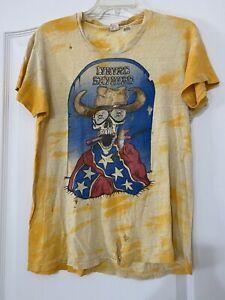 lynyrd skynyrd t shirt 1970s vintage
