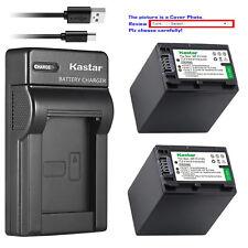 Kastar Battery Slim Charger for Sony NP-FH100 & DCR-DVD605 DCR-DVD608 DCR-DVD610
