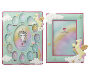 Mozlly Mozlly Mint Green Unicorn Baby First Year Collage 4 x 6 inch Photo Frame