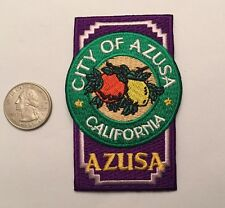 City of Azusa California Logo Embroidered Patch San Gabriel Valley Ca