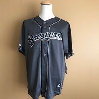 Milwaukee Brewers Majestic MLB Men's Size Baseball Jersey--Grey