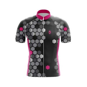 Kids Cycling Jersey Bicycle Sportswear Top Clothing Boys/Girls Triangle Pink