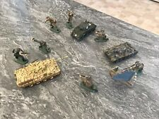 3 Model tanks with model army figures