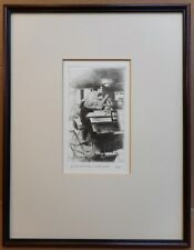 Oliver Von Dohnanyi conducting. Drypoint by listed artist Alan Flood. 1995