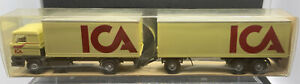 "WIKING: DAF Suitcase Road Train "" ICA "" Nr.29467 1:87 Germany BNIB Wagon & Drag"