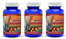 3 x Super African Mango 1200 Extract Irvingia Gabonensis Natural Weight Loss