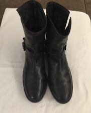 Women's Fry Natalie Short Engineer Boots Black Size 11.