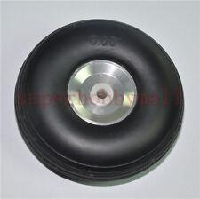 1pair 3inch / 76mm PU wheel w/Aluminum Hub w/ 3 Screw For RC Airplane/plane toy
