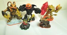 Lot Of 5 Skylanders Wildfire, Pumpkin Eye Brawl, Swarm,Bash &  Legendary Trigger