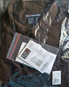 NEW 5.11 TACTICAL Men's Ripstop Taclite Patrol Duty XL Long Sleeve Shirt Mocha