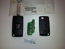 BRAND NEW GENUINE PEUGEOT 307 307R CC KEY INCLUDING ELECTRONICS 6554NN