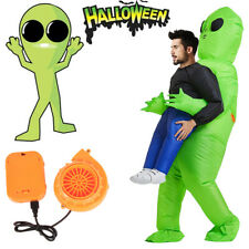 Décoration Halloween Costume Gonflable Costume Enfants Adulte Vert Cosplay Fu SH