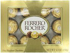 FERRERO ROCHER 12 PIECE BOX 5.3oz NEW and SEALED  HAZELNUT CHOCOLATE